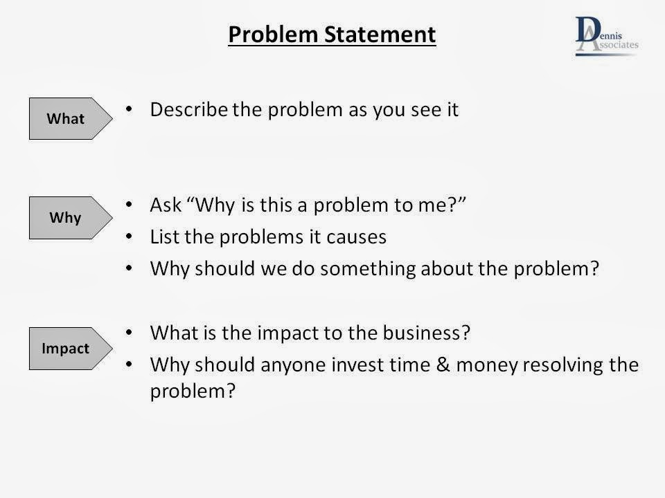 Lean Team: What'S Your Problem?