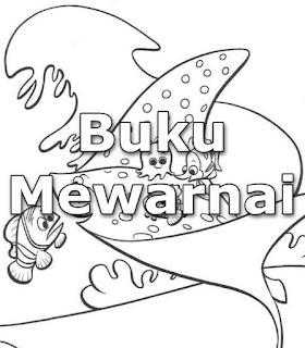 Buku Mewarnai tema Finding Nemo