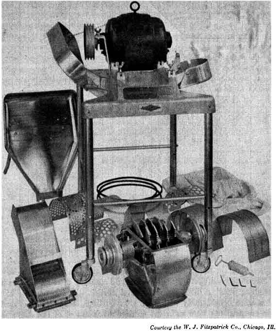 Stainless, non-corrosive comminuting machine