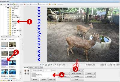 Cara Memilih Foto yang akan dibingkai dengan photoshop edit photo