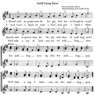 Auld Lang Syne (Lyrics and Sheet Music)-Traditional Scottish Folk Song