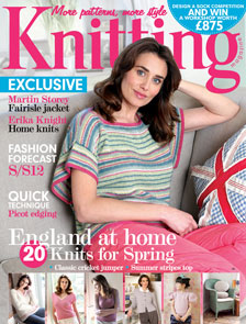 Knitting magazine cover