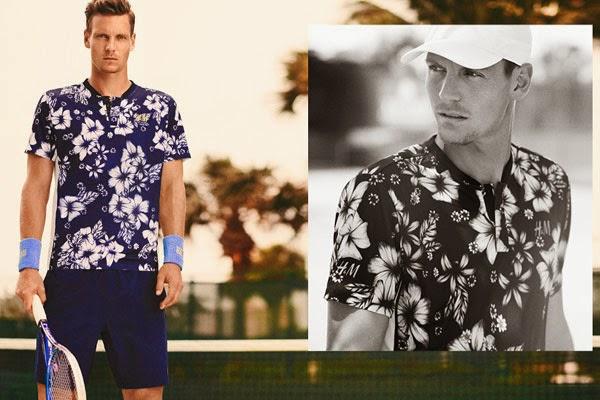 camiseta de tenis Tomas Berdych H&M verano 2014
