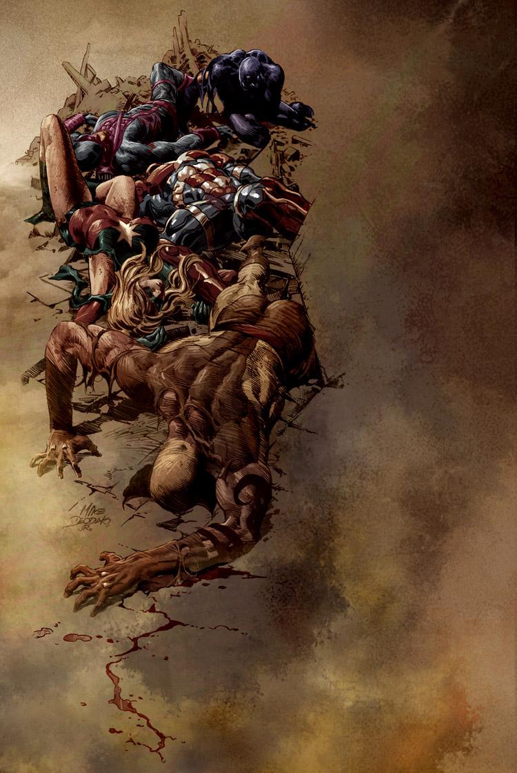Dark Avengers 16 Cover por MikeDeodatoJr