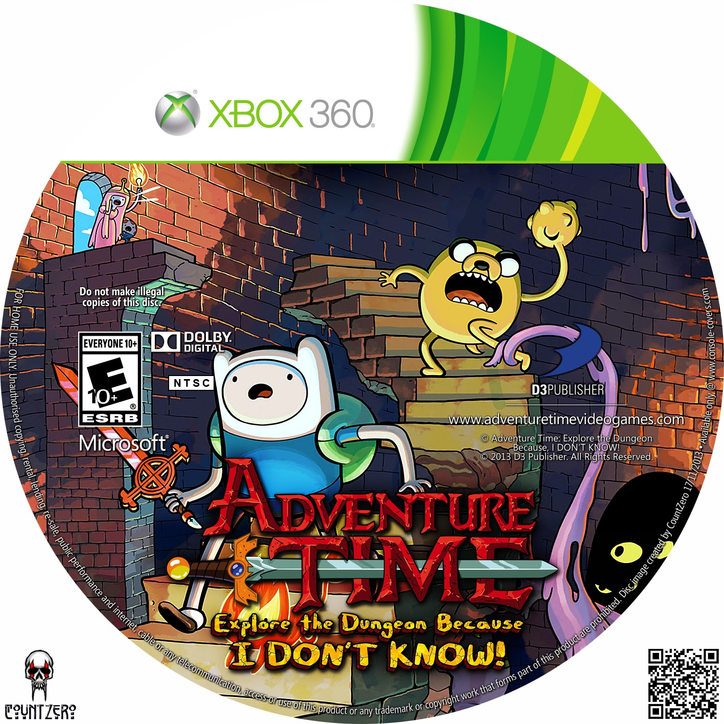 Label Adventure Time Explore the Dungeon Because I DONT KNOW Xbox 360