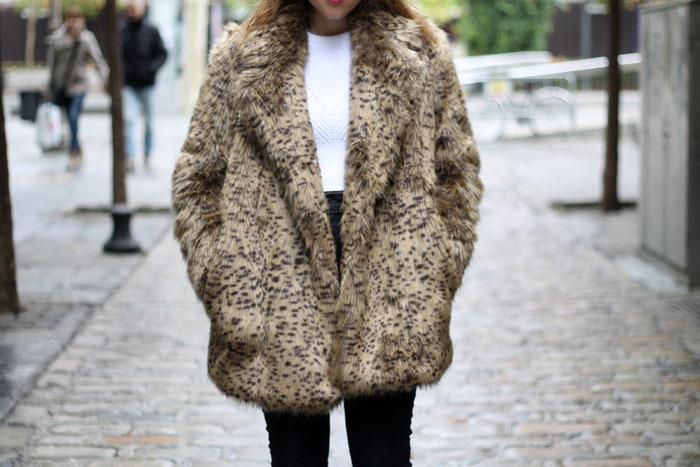 leopard faux fur