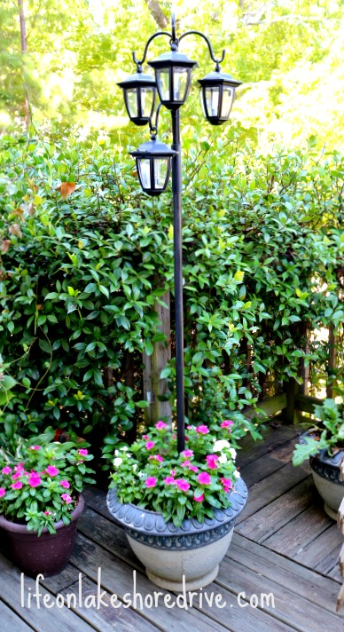 LED Solar Light Lamp Post    #solar lighting, #energy saving   Life on Lakeshore Drive