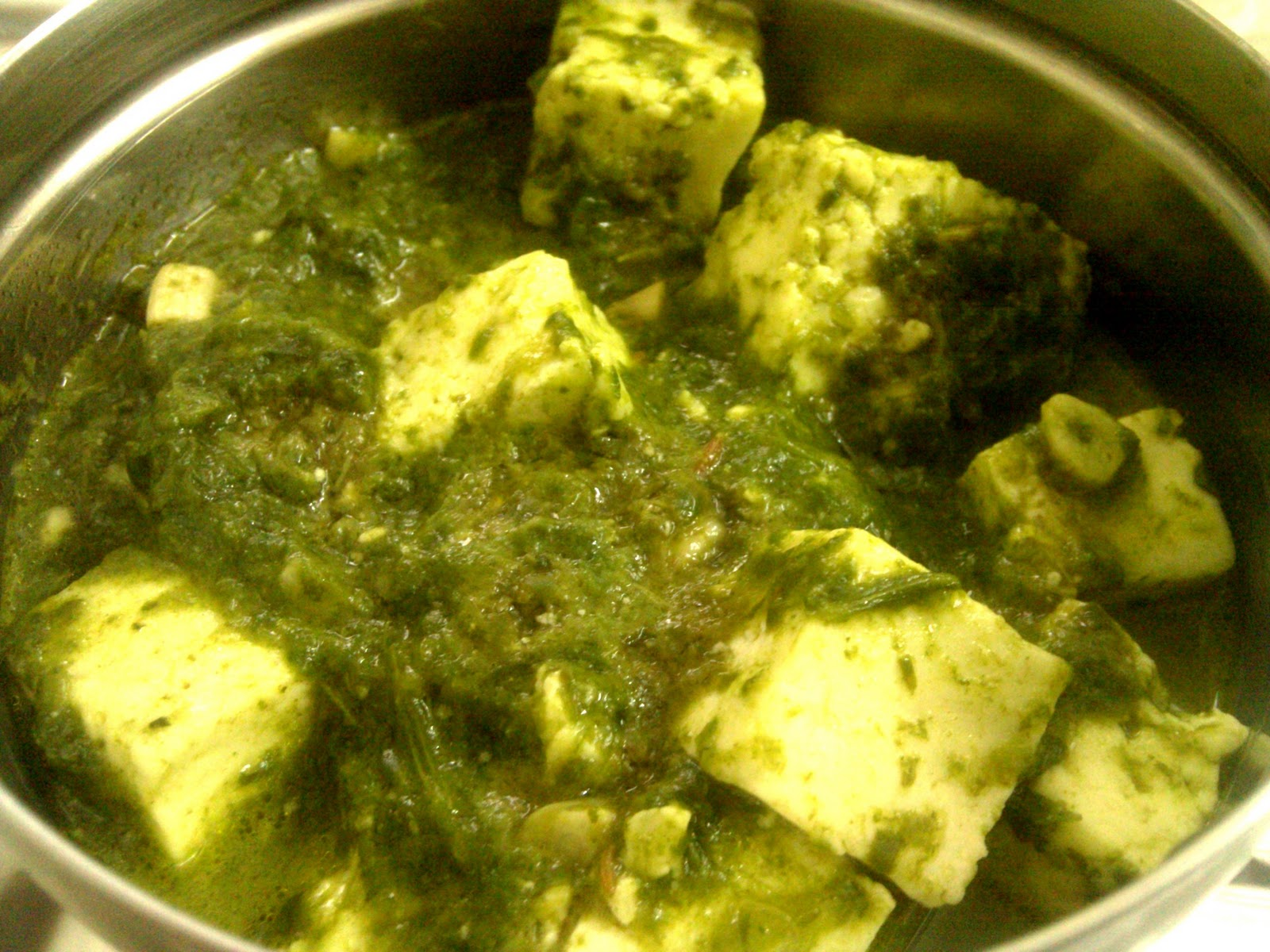 Sumthinz Cooking: Subzi: 10 Minute Super Yum Palak Paneer
