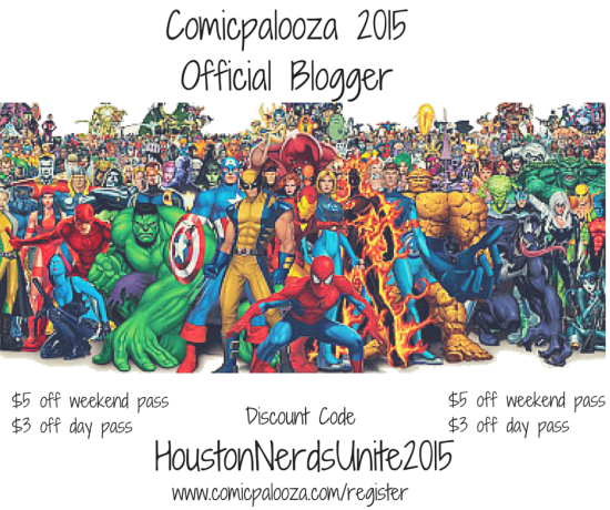 Comicpalooza Official Blogger