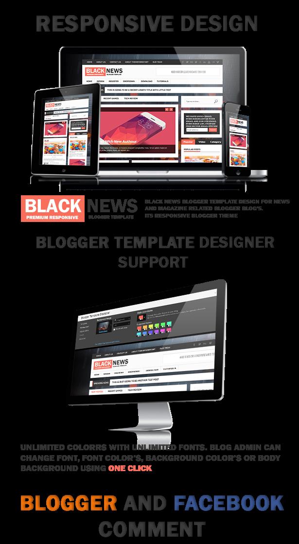 BlackNews Blogger Template - Tạp chí tin tức chuyên nghiệp