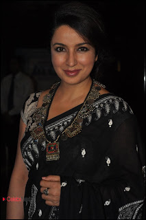 Tisca Chopra Pictures in Saree at  Ankur Arora Murder Case Premiere Show  0001.jpg