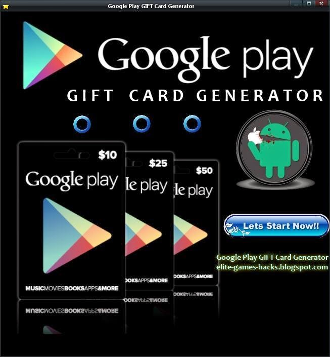 google play card generator