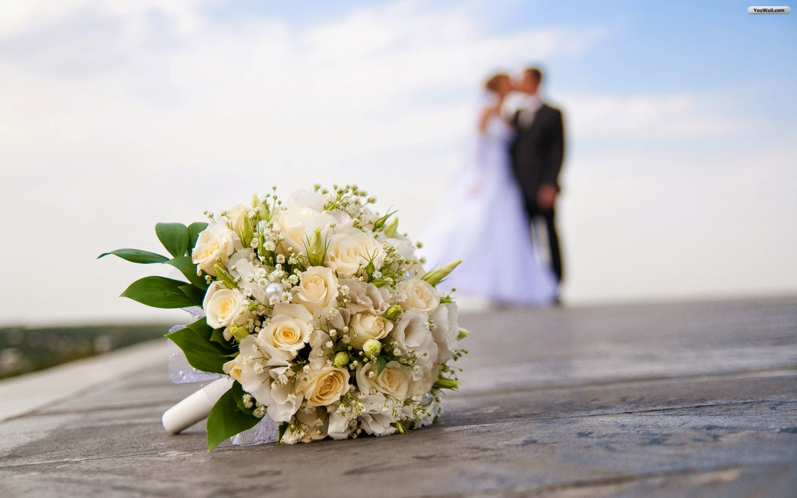 Romantic wedding wallpaper - Flower bouquets for wedding