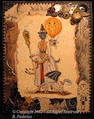 Halloween Steampunk Pen & Ink Collage