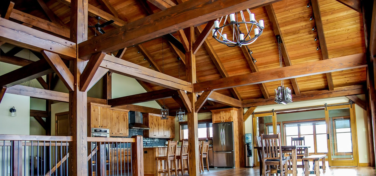 Timber Frame Ceiling Fan : Beautiful inside and out raising the roof building a