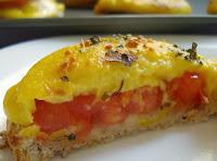 Canapés de Tomate e Vegarella (vegana)