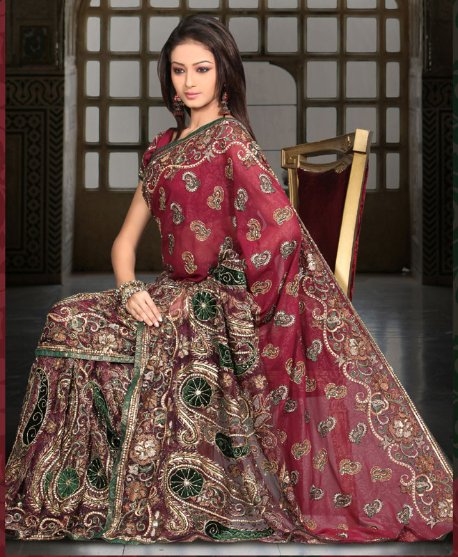 Top 10 Bridal Sarees Design 2013 ~ Wallpapers, Pictures ...