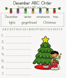 http://www.teacherspayteachers.com/Product/December-ABC-Order-Fun-429205