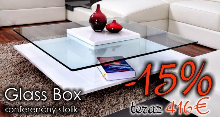 luxusny nabytok, konferencny stolik v bielej farbe, skleneny konferencny stolik