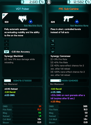 Defiance - Weapon Stats