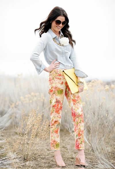 %C3%87i%C3%A7ekli Pantolon Modelleri 20137 2013 Çiçekli elbise modelleri