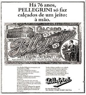 propaganda calçados Pellegrini - 1978, moda anos 70; propaganda anos 70; história da década de 70; reclames anos 70; brazil in the 70s; Oswaldo Hernandez