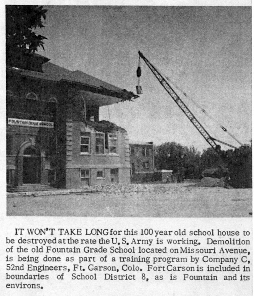 Historic Fountain Colorado Fountain Schools and town memories