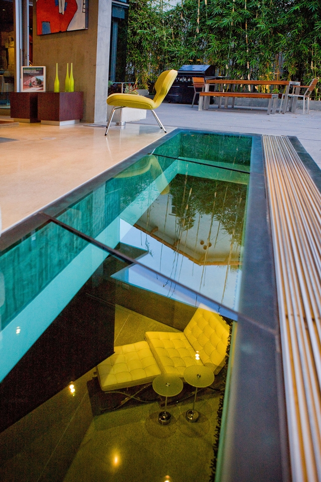 Picture of glass floor in the living room