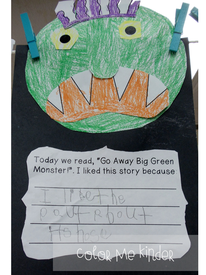 It is a graphic of Slobbery Go Away Big Green Monster Printable Book
