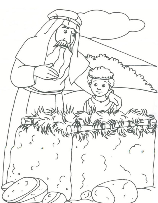 Bible story abraham coloring pages for drawing title=