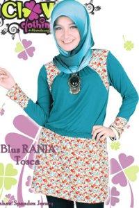 Clover Clothing Blus Rania - Tosca (Toko Jilbab dan Busana Muslimah Terbaru)