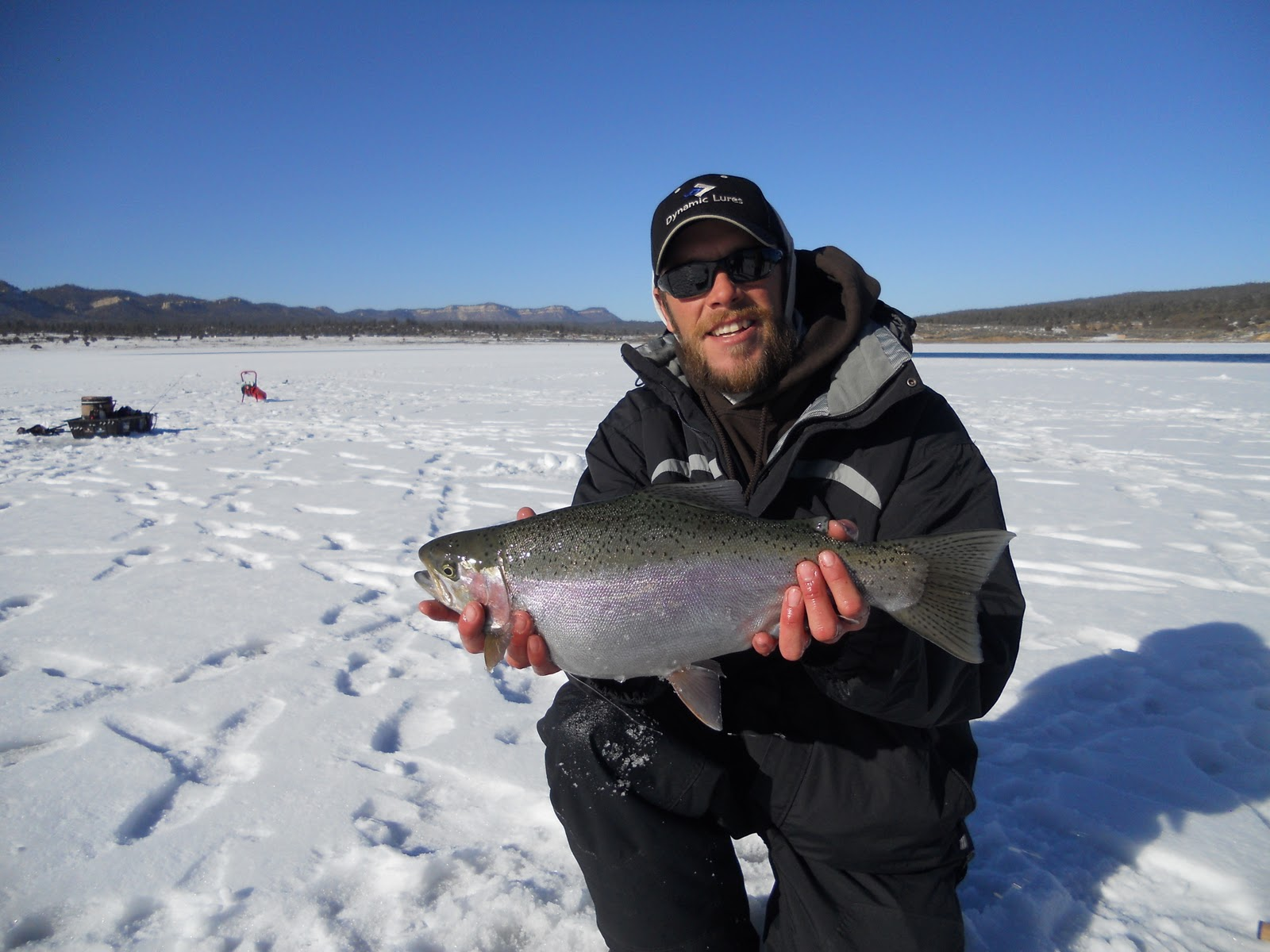 Outdoors nm ice fishing tips tricks from matt pelletier for Fishing new mexico
