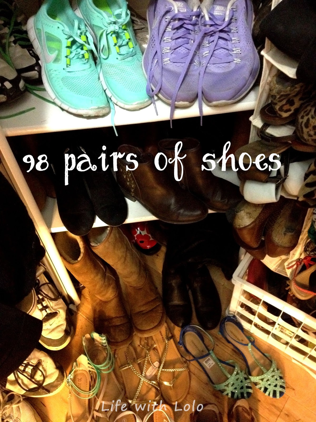 98 Pairs of Shoes | Life with Lolo