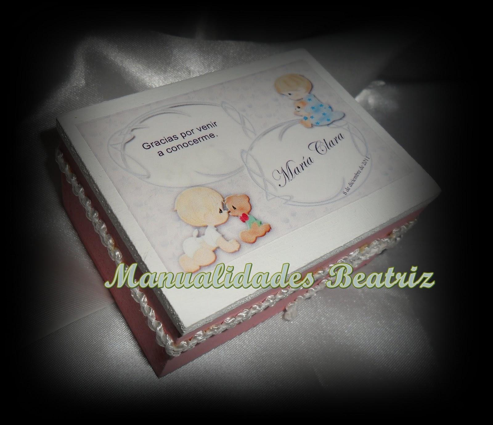 Manualidades Beatriz: Souvenir de Nacimiento