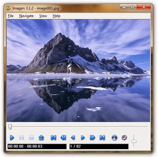 برنامج مجاني لتشغيل جميع أشكال الوسائط المتعددة الصوت ، الفيديو ، والصور Imagen 3.1.2