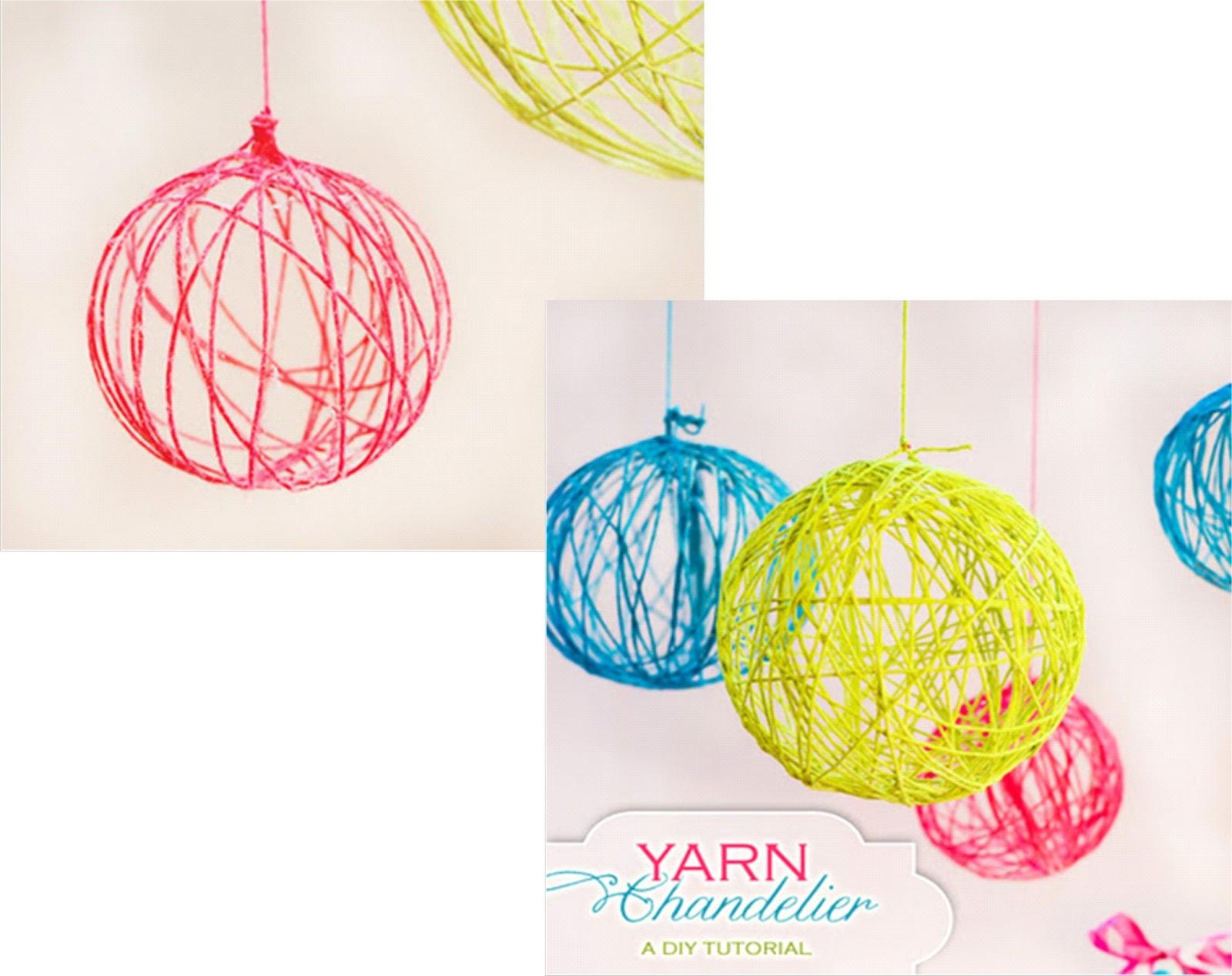 Arte color bola esfera de fique cabuya o lana - Como hacer bolas para decorar ...