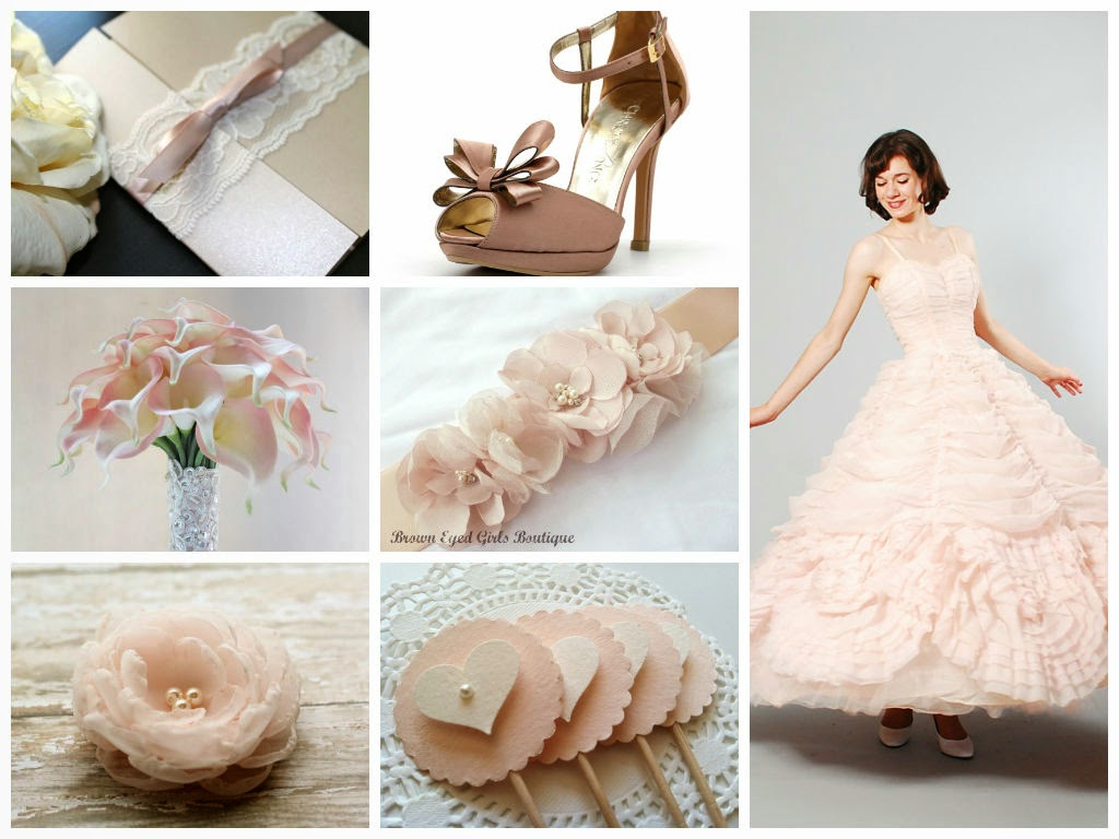 Blush Weddings Inspiration Board, curated by Sugarplum Garters
