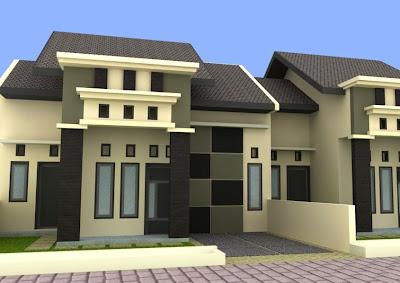 Desain rumah minimalis modern Tipe 45