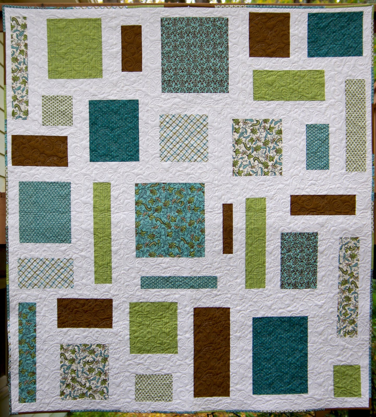 Quilt Patterns Using Squares And Rectangles : Ahhh...Quilting: Floating Rectangles Quilt