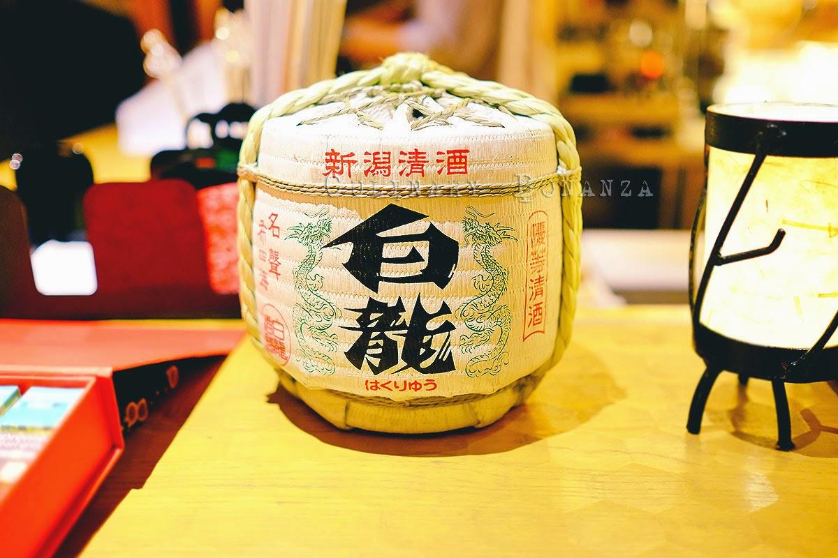 Sake barrel at Sake+ / Sakeplus Senopati