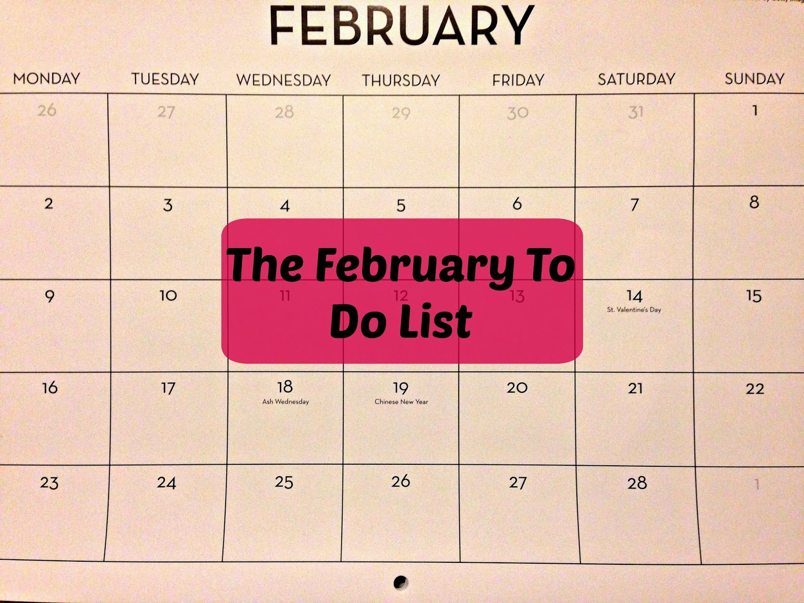 The February To Do List