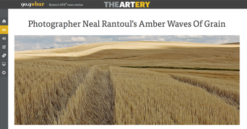 neal rantoul, interview, wbur, panopticon gallery, wheat, aerial photography