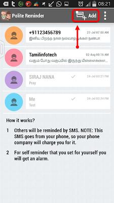 Android Polite Reminder