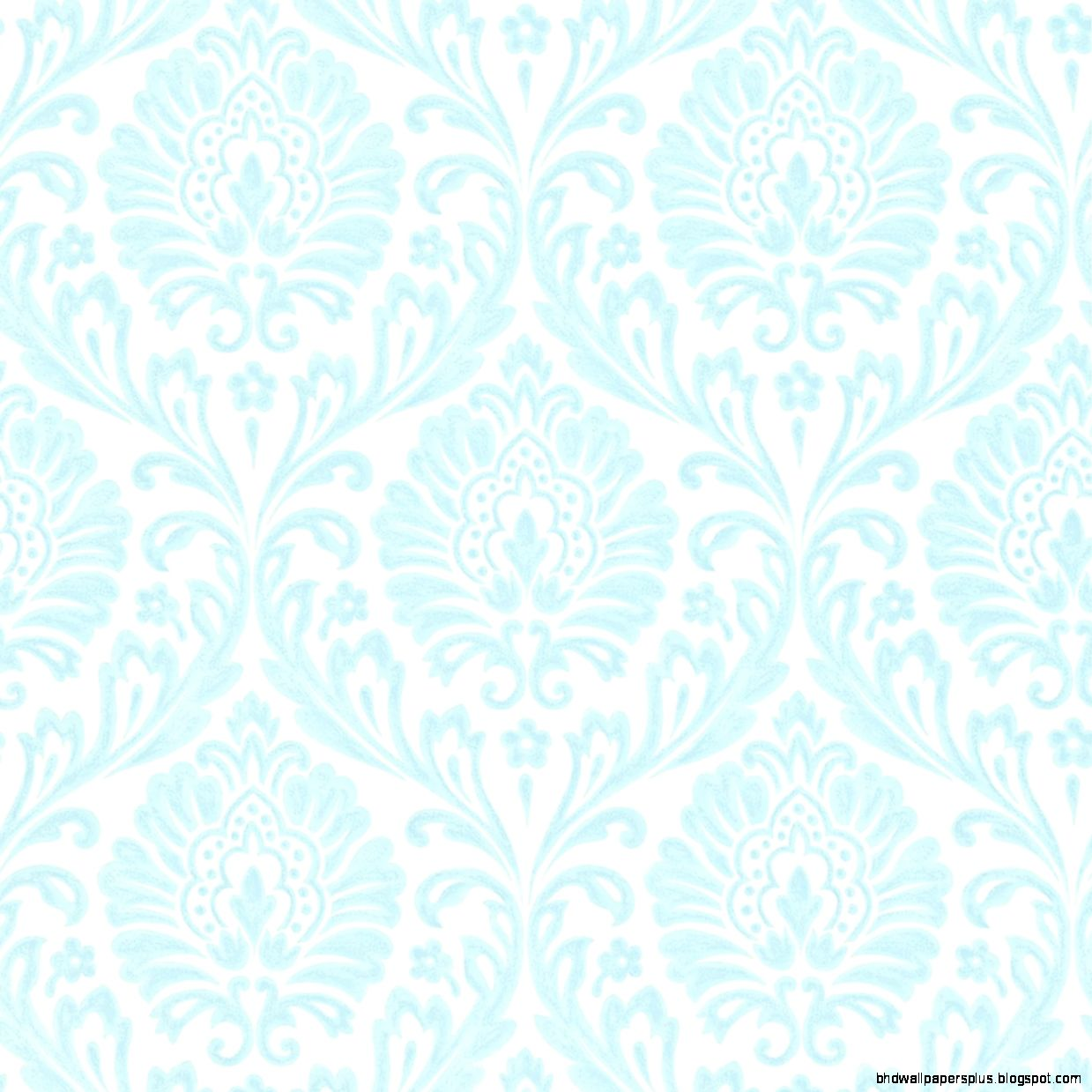 Duck Egg Blue and Ivory Damask Fabric