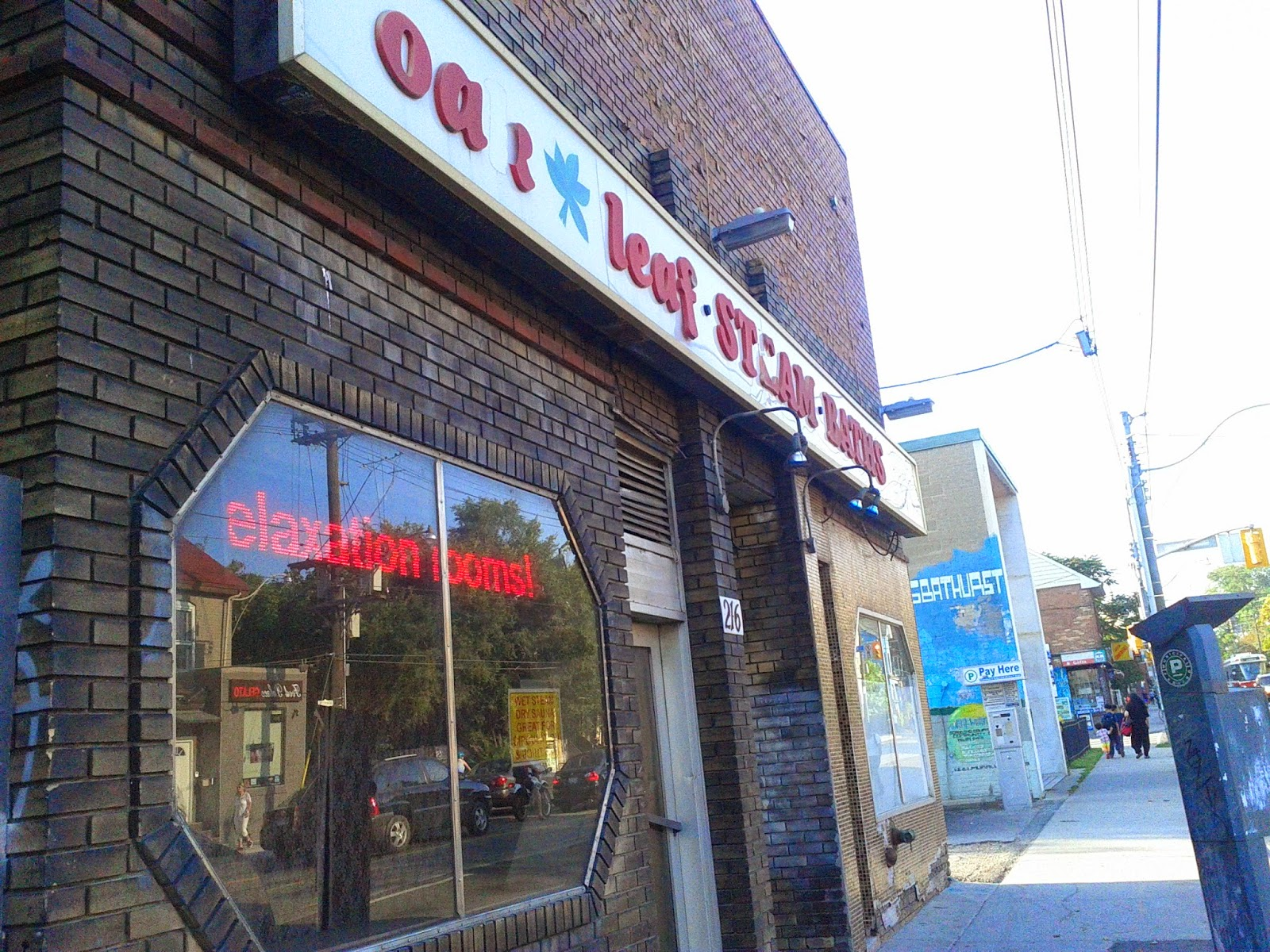 216 Bathurst Street, Oak Leaf Steam Baths, Gay Bath house Toronto