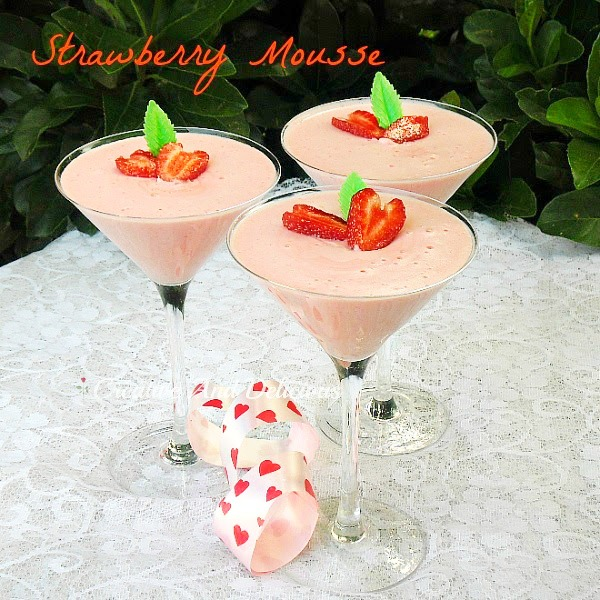 This Strawberry Mousse is a favorite Valentine's Day dessert - every year !