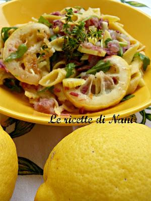 una pasta al profumo di limone.