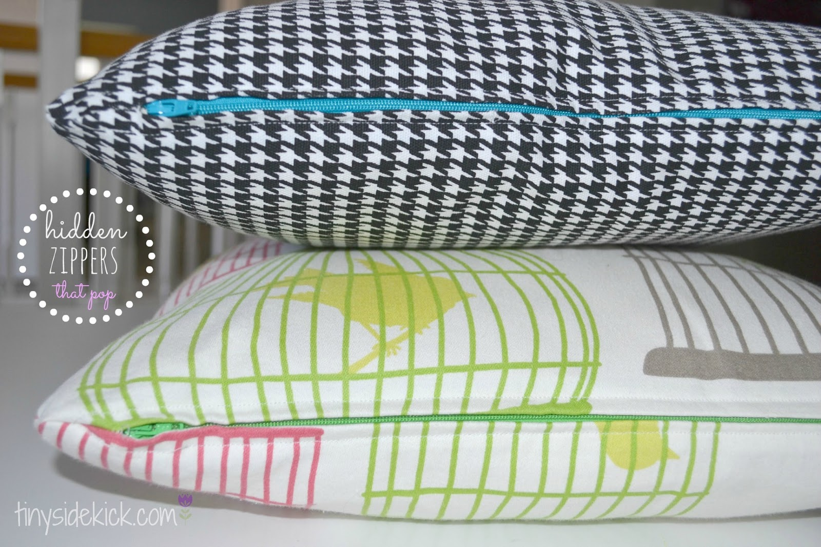 DIY Zippered Pillow Covers: Just Remove and Wash when the kids goober on them :