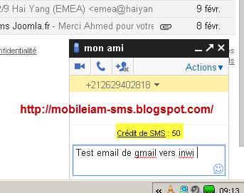 envoyer un sms gratuit via internet