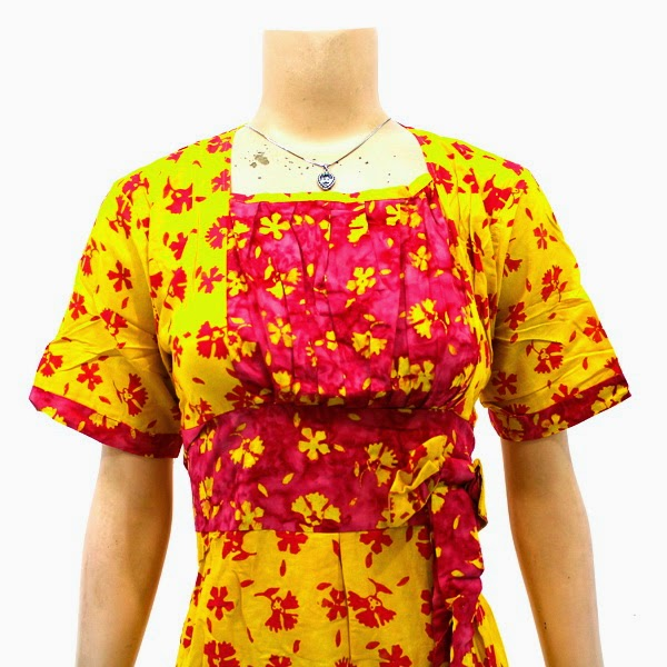 DB3748 Model Baju Dress Batik Modern Terbaru 2014